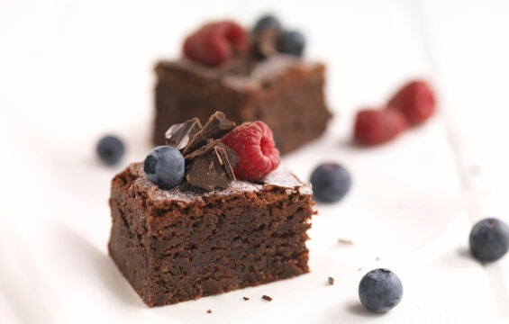 catering services chocolate brownie